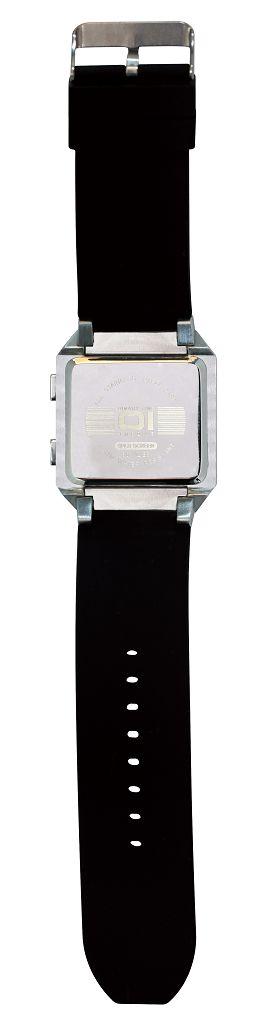 Бинарные часы 01TheOne Split Screen SC102B5 Black Strap Blue Light
