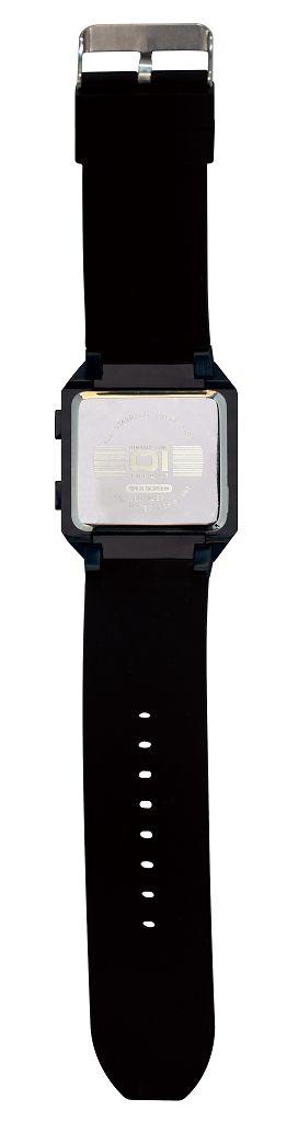 Бинарные часы 01TheOne Split Screen SC202R5 Black Strap Red Light