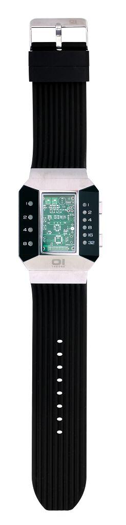 Бинарные часы 01TheOne Split Screen SC102R5 Black Strap