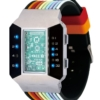 Бинарные часы 01TheOne Split Screen SC102B6 Color Strap Blue Light